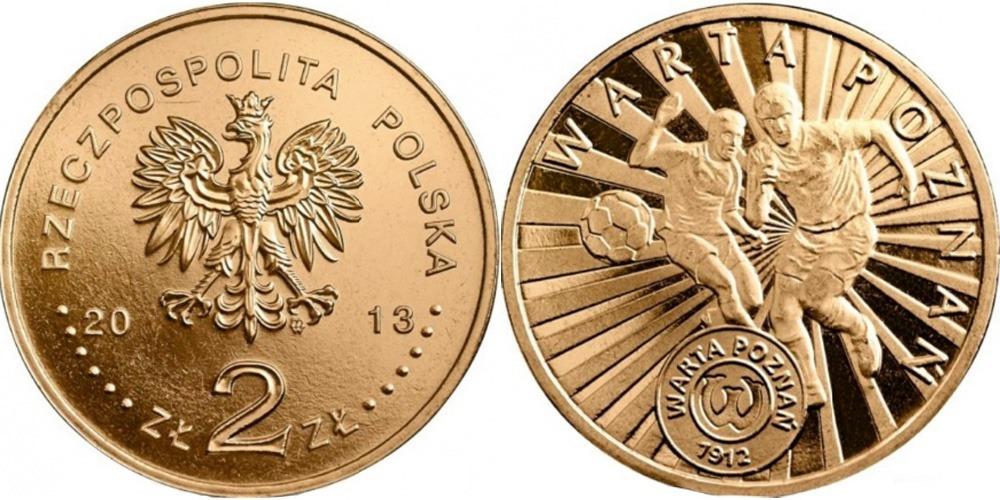 2 злотых 2013 Польша — Польские футбольные клубы — Варта Познань