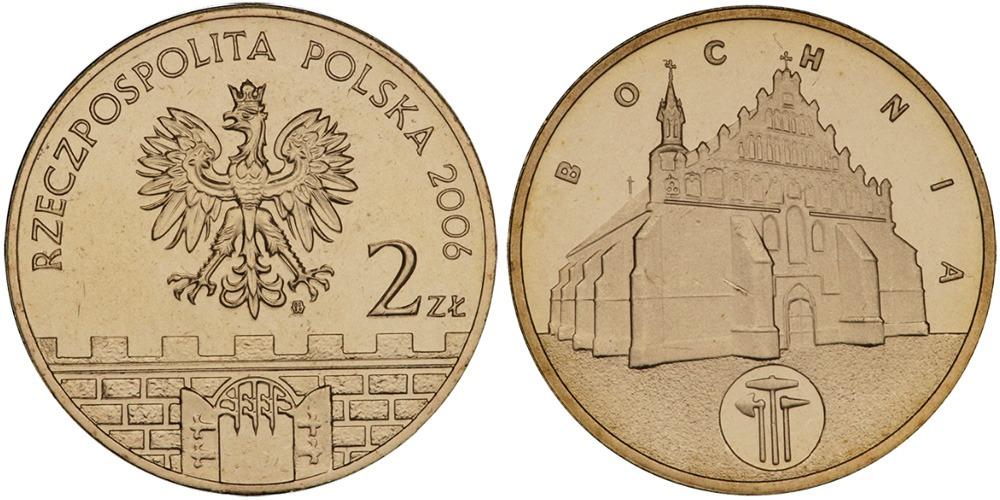 2 злотых 2006 Польша — Древние города Польши — Бохня