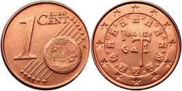 1 евроцент 2004 Португалия UNC