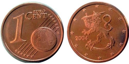 1 евроцент 2004 Финляндия UNC