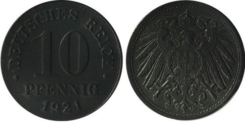 10 пфеннигов 1921 ФРГ — не магнетик