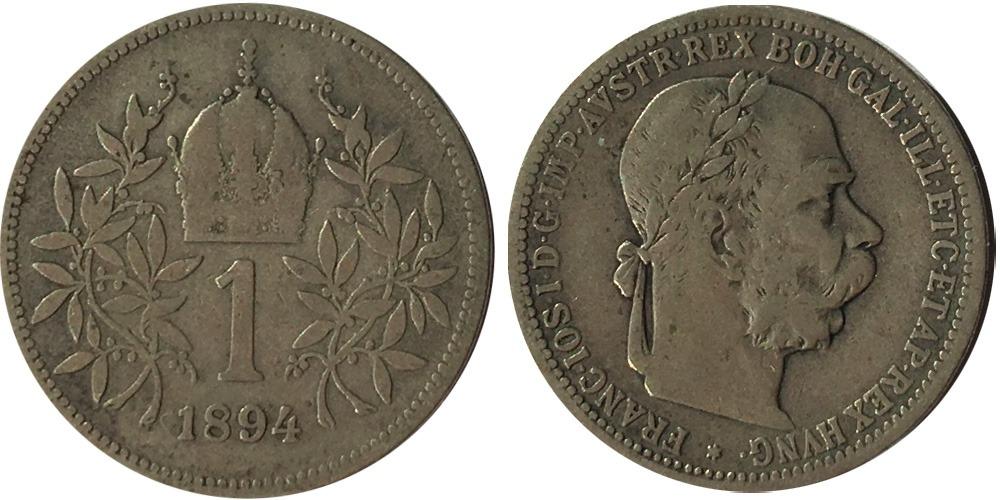 1 крона 1894 Австрия — серебро