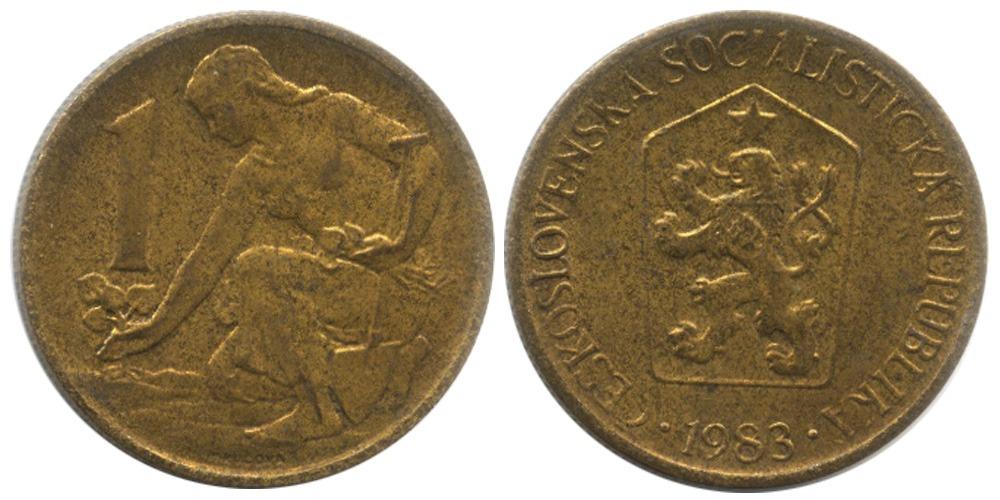1 крона 1983 Чехословакии