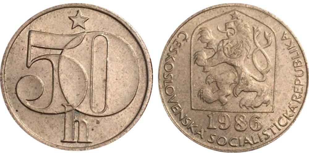 50 геллеров 1986 Чехословакии