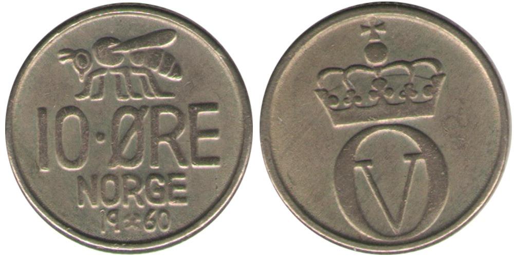 10 эре 1960 Норвегия