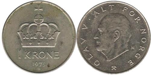 1 крона 1975 Норвегия