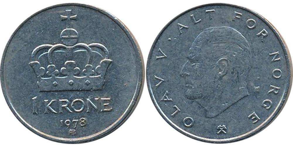 1 крона 1978 Норвегия