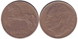 1 крона 1970 Норвегия