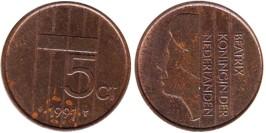5 центов 1991 Нидерланды