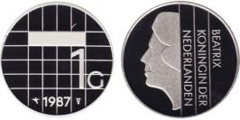 1 гульден 1987 Нидерланды