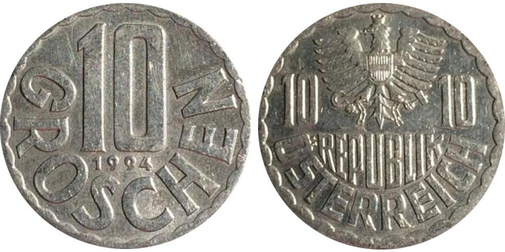 10 грошей 1994 Австрия