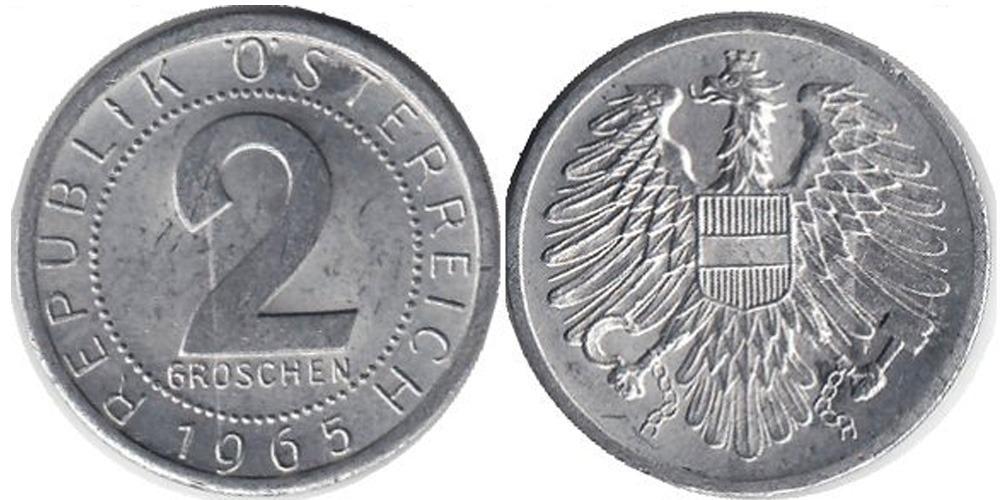 2 гроша 1965 Австрии