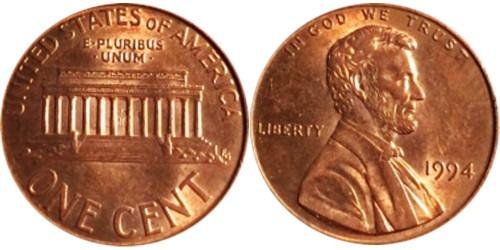 1 цент 1994 США