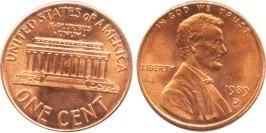 1 цент 1989 D США