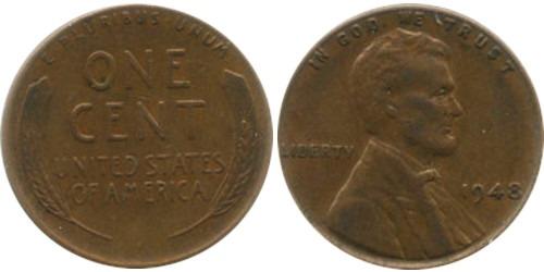 1 цент 1948 США
