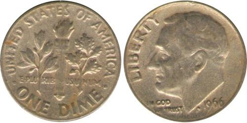 10 центов 1966 США