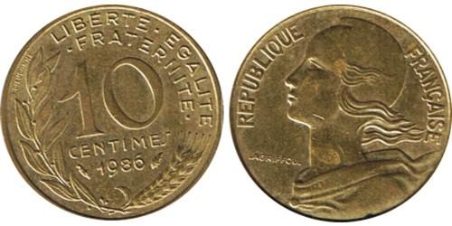 10 сантимов 1986 Франция