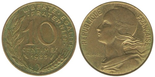 10 сантимов 1988 Франция