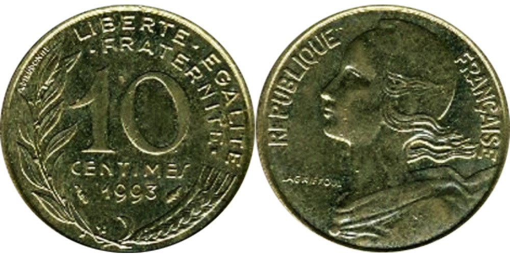 10 сантимов 1993 Франция