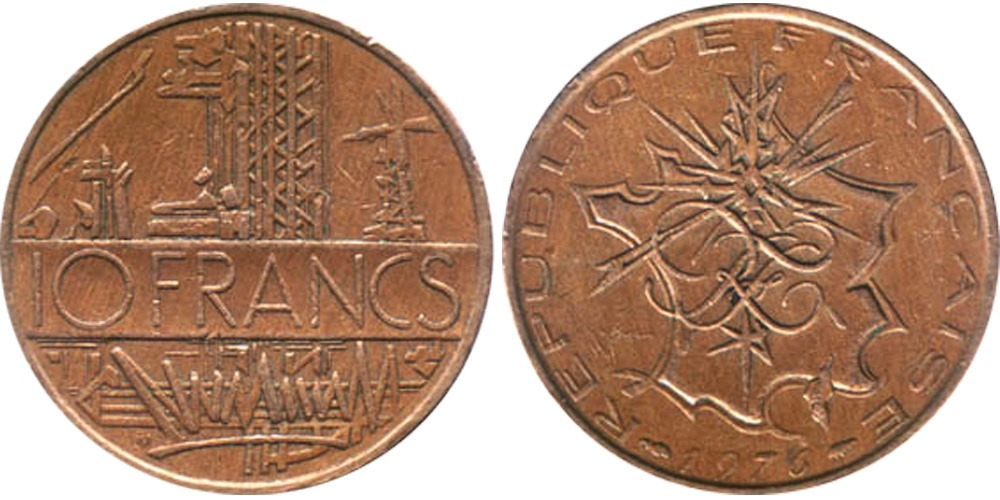 10 франков 1976 Франция