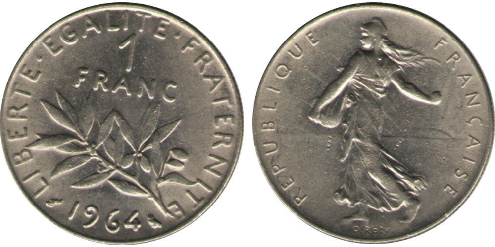 1 франк 1964 Франция