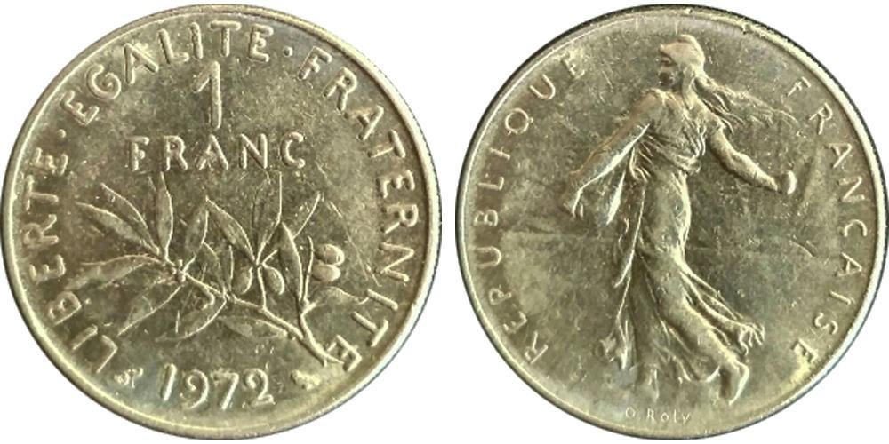 1 франк 1972 Франция