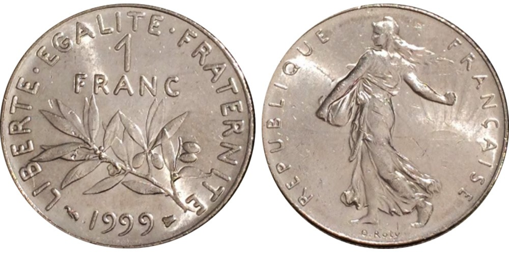 1 франк 1999 Франция