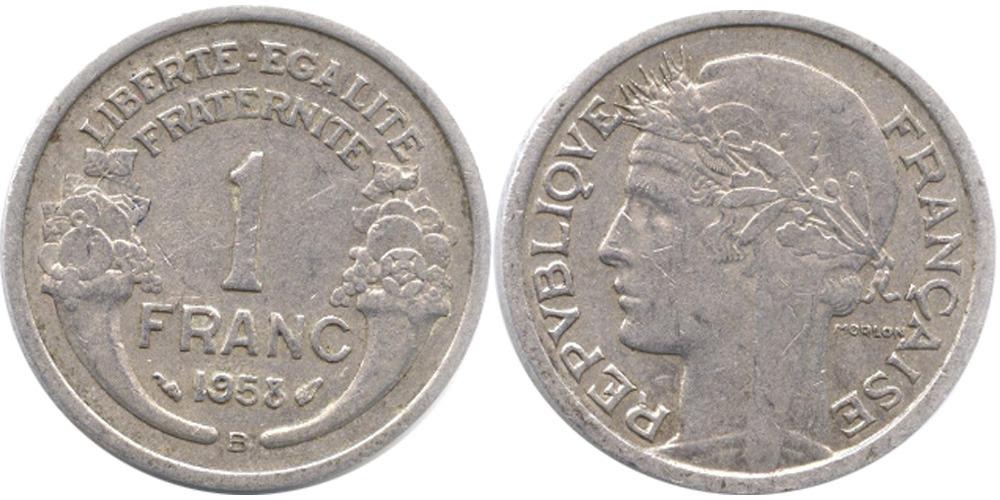 1 франк 1958 В Франция