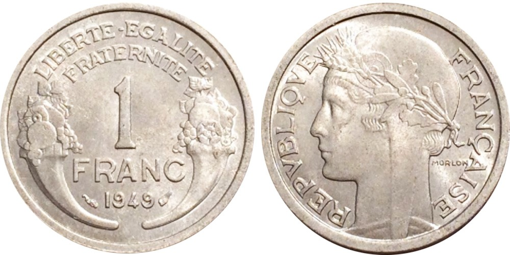 1 франк 1949 Франция