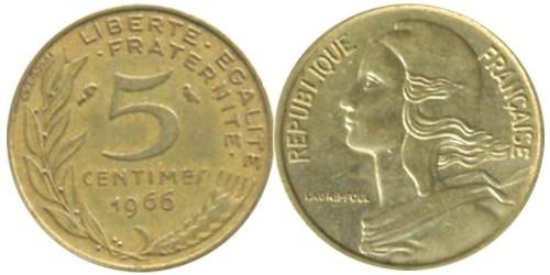 5 сантимов 1966 Франция