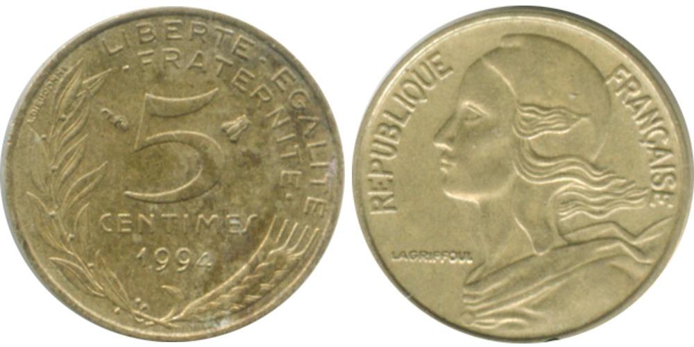 5 сантимов 1994 Франция