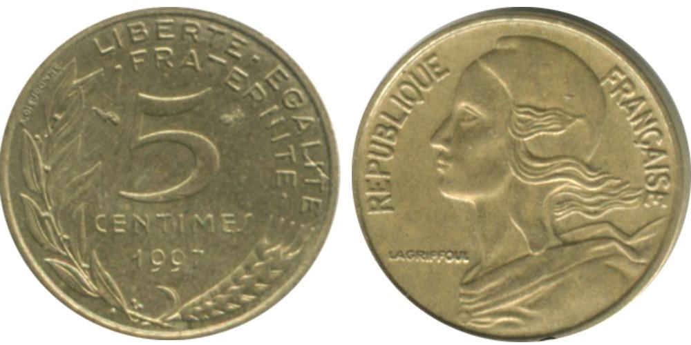 5 сантимов 1997 Франция