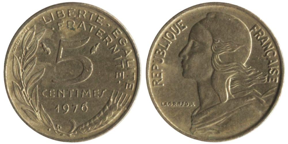 5 сантимов 1976 Франция