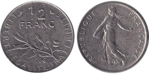 1/2 франка 1966 Франция