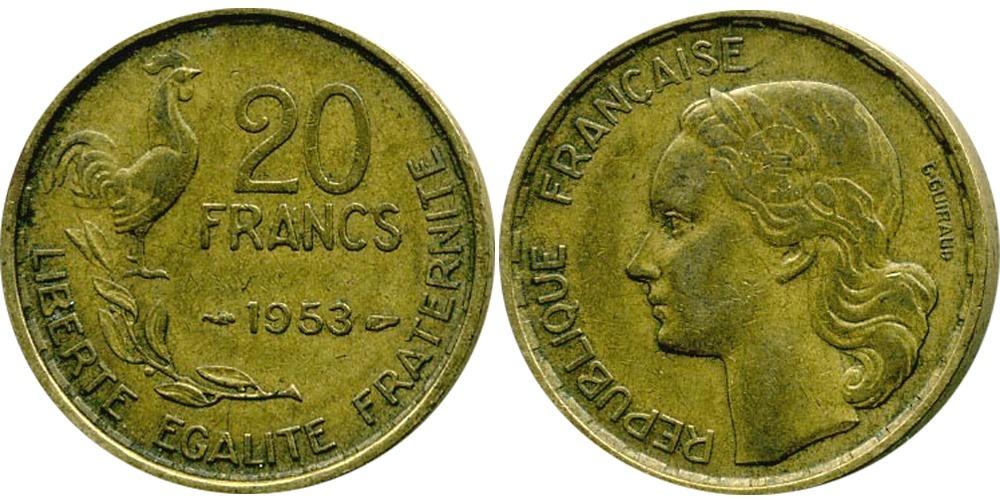 20 франков 1953 Франция