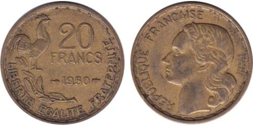 20 франков 1950 Франция — Без отметки монетного двора
