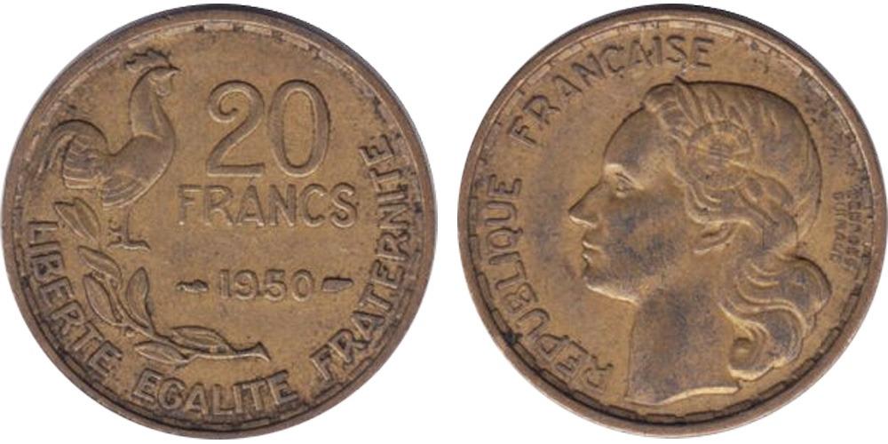 20 франков 1950 Франция