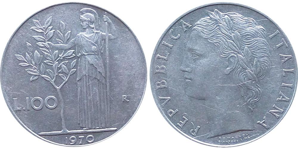 100 лир 1970 Италия