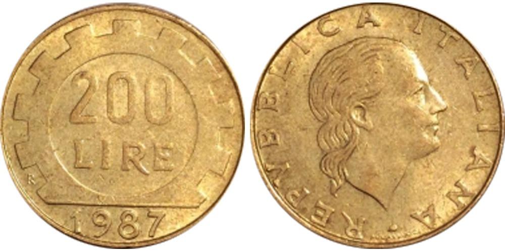 200 лир 1987 Италия