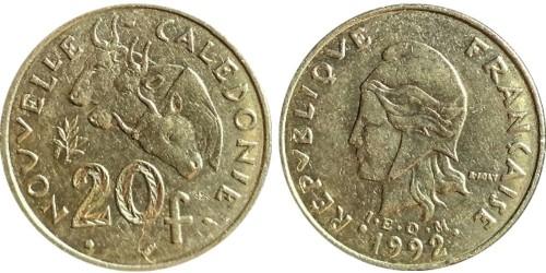 20 франков 1992 Французская Полинезия