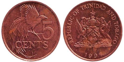 5 цент 1997 Тринидад и Тобаго — Райская птица