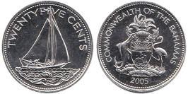 25 центов 2005 Багамские Острова