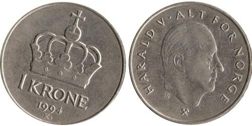 1 крона 1994 Норвегия