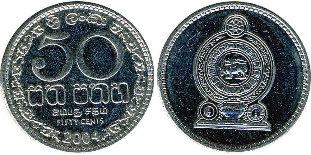 50 центов 2004 Шри-Ланка