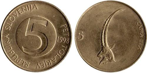 5 толаров 1998 Словения