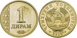 1 дирам 2011 Таджикистан