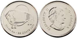 25 центов 2011 Канада — Природа Канады — Бизон