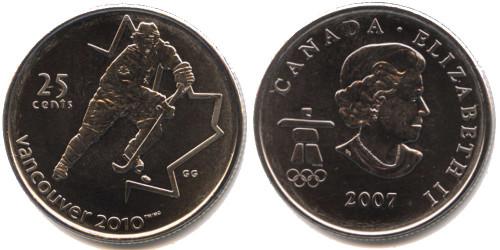 25 центов 2007 Канада — XXI зимние Олимпийские Игры, Ванкувер 2010 — Хоккей