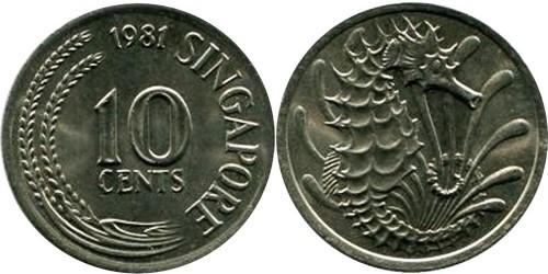 10 центов 1981 Сингапур