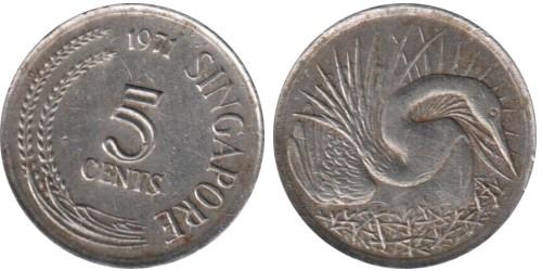 5 центов 1971 Сингапур